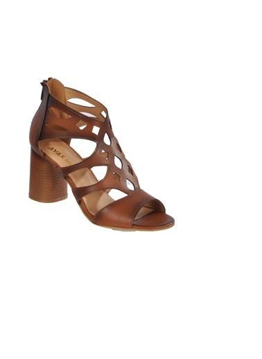 Maje 9837 Pudra Kadın Topuklu Ayakkabı Taba